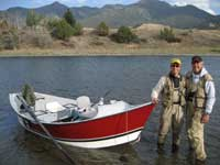 Jack Hinsche and Sam Allred on the Yellowstone River