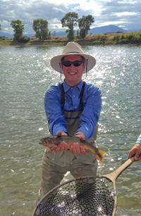 Ted Dickman with cutthroat